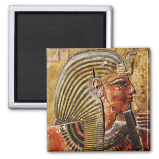 The head of Seti I  from the Tomb of Seti 2 Inch Square Magnet