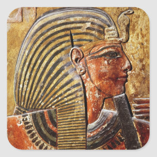 The head of Seti I  from the Tomb of Seti Square Sticker