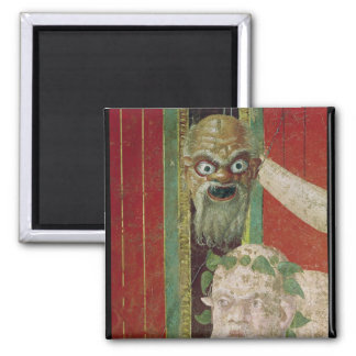 The Head of the Elderly Silenus 2 Inch Square Magnet