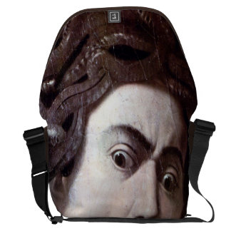 The Head of The Medusa by Michelangelo Caravaggio Messenger Bags