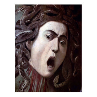 The Head of The Medusa by Michelangelo Caravaggio Post Cards