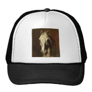 The head of white horse by Theodore Gericault Trucker Hat