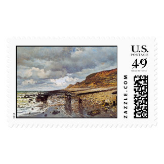 The Headland of the Heve at Low Tide Claude Monet Postage