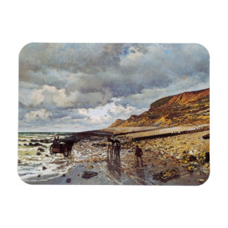 The Headland of the Heve at Low Tide Claude Monet Rectangular Photo Magnet