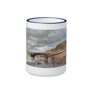 The Headland of the Heve at Low Tide Claude Monet Ringer Mug