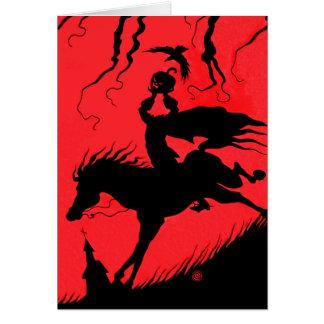 """The Headless Horseman"" Greeting Card"