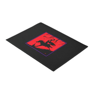 """The Headless Horseman"" Halloween Door Mat"