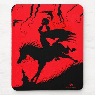 """The Headless Horseman"" Halloween Mousepad"