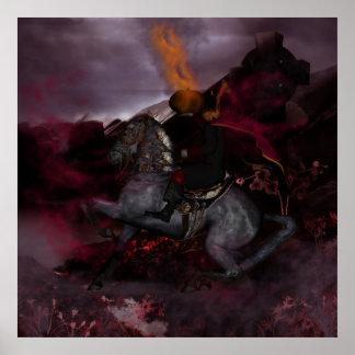 The Headless Horseman Print art by Moonlake