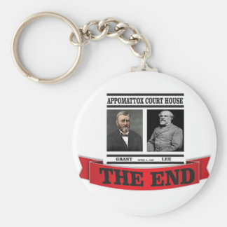 the headline end of civil war keychain