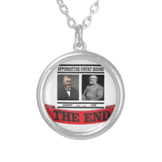 the headline end of civil war silver plated necklace