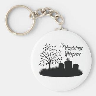 The Headstone Whisperer Basic Round Button Keychain