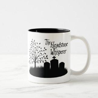 The Headstone Whisperer Two-Tone Coffee Mug