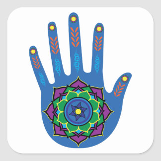 The Healing Hand Square Sticker