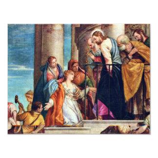 The Healing Of Blutfüssigen By Veronese Paolo 4.25x5.5 Paper Invitation Card