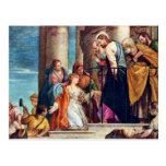 The Healing Of Blutfüssigen By Veronese Paolo Postcards