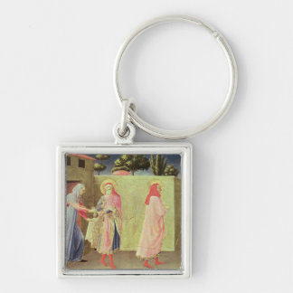 The Healing of Palladia Silver-Colored Square Keychain