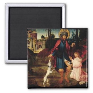 The Healing of Saint Roch 2 Inch Square Magnet
