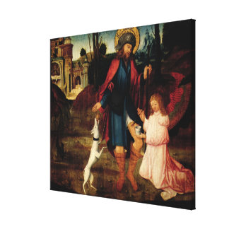 The Healing of Saint Roch Canvas Print