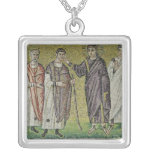 The Healing of Two Blindmen from Jericho Square Pendant Necklace