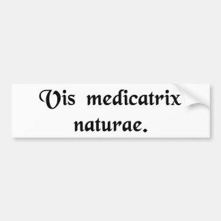 The healing power of nature. car bumper sticker