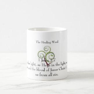 The Healing Word Classic White Mug -1 John 1:7