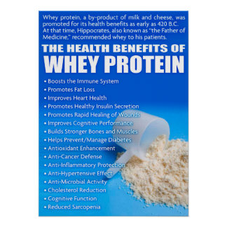 The Health Benefits of Whey Protein Poster