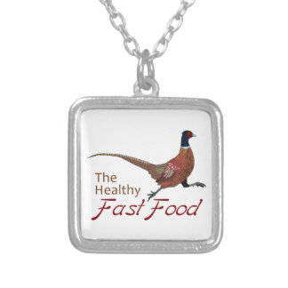 The Healthy Fast Food Square Pendant Necklace