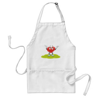 the heart adult apron