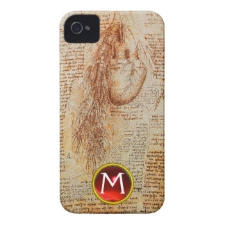 The Heart and the Bronchial Arteries Gem Monogram Case-Mate iPhone 4 Cases