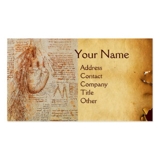 The Heart and the Bronchial Arteries Parchment Business Cards