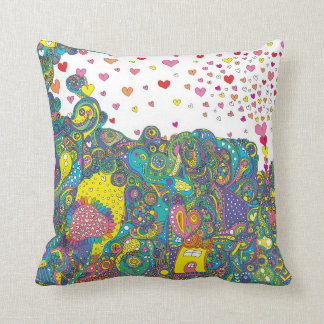 The heart bubble ku tsu it does and the yo is throw pillow