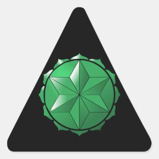 The Heart Chakra Triangle Sticker