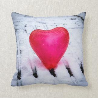 The Heart Crosses Any Bridge Throw Pillow