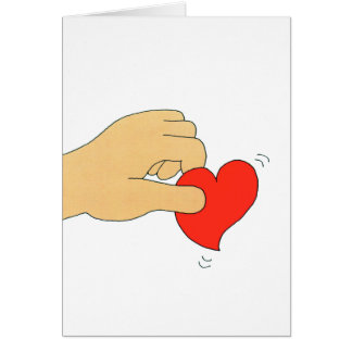 The heart erases... card
