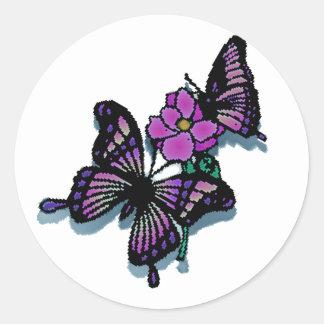 The Heart Flutters Round Sticker