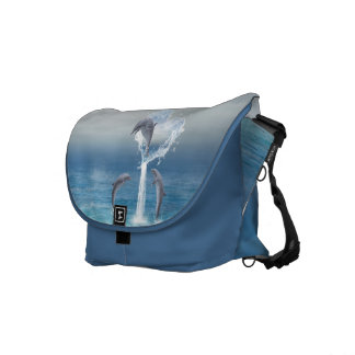 The heart from the Dolphins Messenger Bag