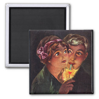 The Heart is a Match 2 Inch Square Magnet