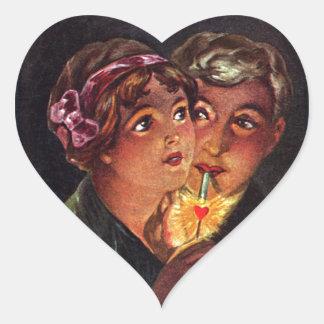 The Heart is a Match Heart Sticker
