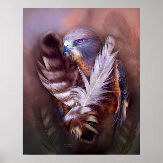 The Heart Of A Hawk Art Poster/Print zazzle_print
