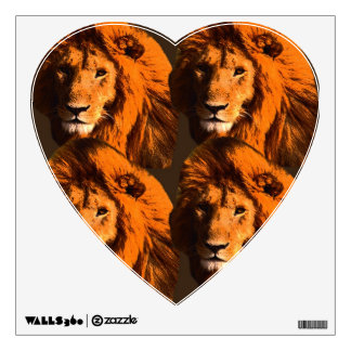 THE HEART OF A LION ROOM DECALS