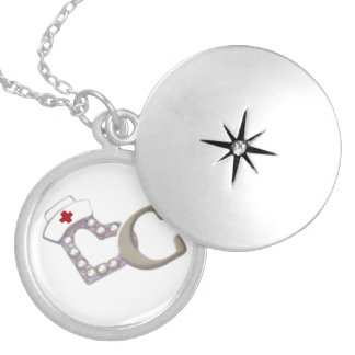 The Heart Of A Nurse Round Locket Necklace