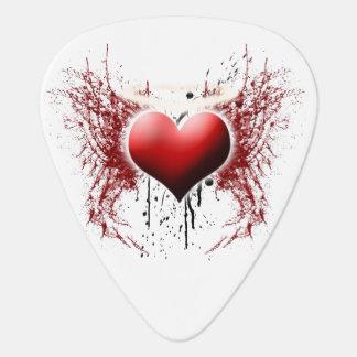The Heart of an Angel Guitar Picks (five)