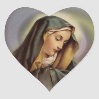 The Heart of Blessed Virgin Mary Heart Stickers