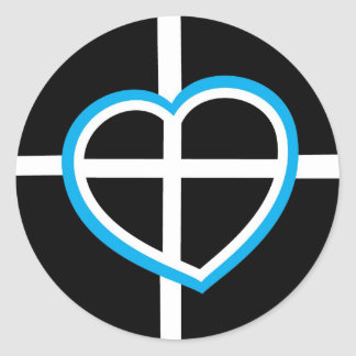 The heart of Cornwall Classic Round Sticker