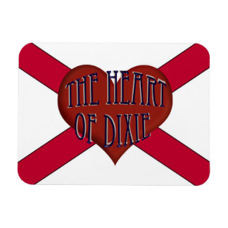 The Heart Of Dixie Alabama Flexible Magnet