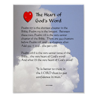The Heart of God's Word Poster
