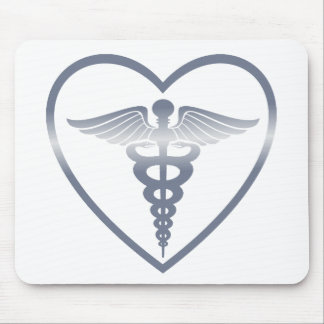 The Heart of Life Logo Mouse Pad