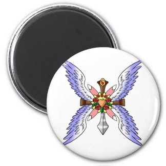 The Heart of Sacred Fruit 2 Inch Round Magnet