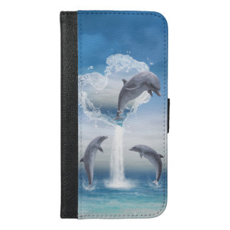 The Heart Of The Dolphins iPhone 6/6s Plus Wallet Case